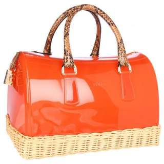 Furla Candy bag (straw base, perfect match with summer dress)