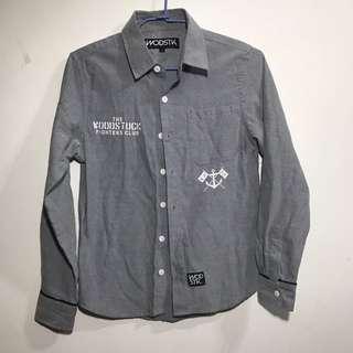 Woodstuck 灰色 長袖襯衫