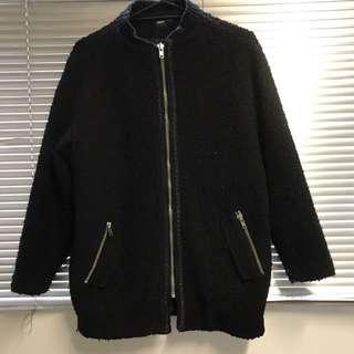 Asos Black Cocoon Jacket - Size 10