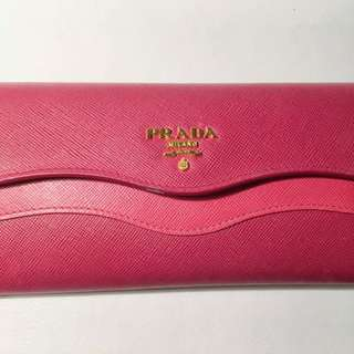 Pink Prada leather purse (2015 limited)