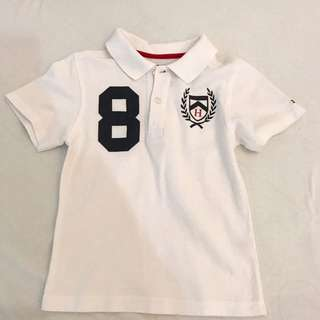 Tommy Hilfiger Boys While Polo Shirt ( Age 3-4 )