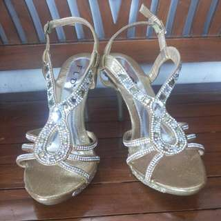 Heels Partty Fld Diamonds