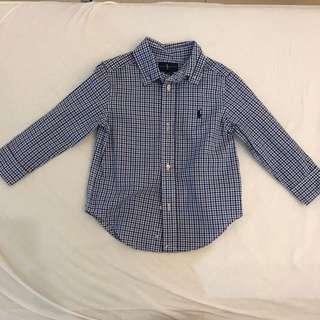 Polo Ralph Lauren Boys Blue White Shirt