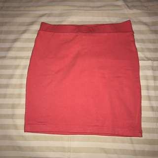 forever 21 hot pink span skirt // bodycon skirt // rok merah span f21