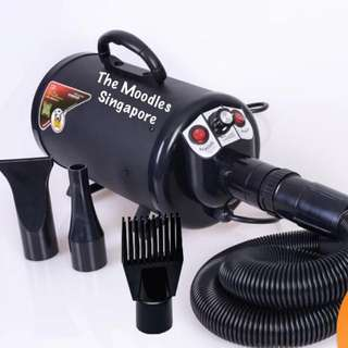 Black 2800w High Power Pet Blower Quick Dry 10 Mins. With Warranty. Free Next Day Delivery.
