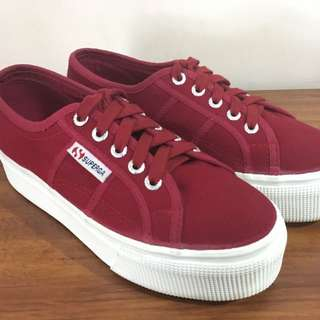 Superga Wine Red (maroon) Platform Sneakers