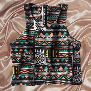 Aztec Sleeveless Top