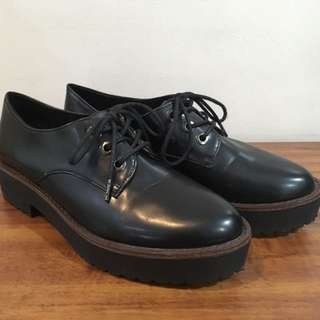 Berskha Faux Leather Oxford Platform Shoes