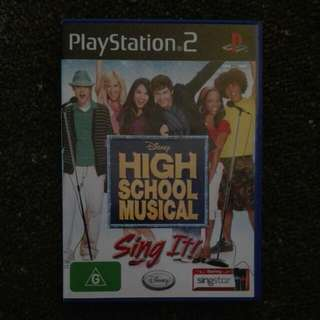 High School Musical Sing It on PS2
