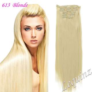 7pc Set Hair Extensions BlONDE