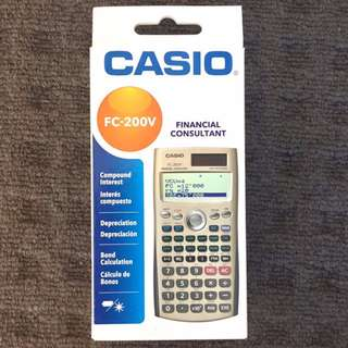 Casio FC-200v Financial Consultant - Financial Calculator