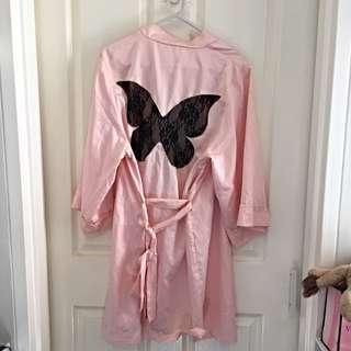 Sexy Pink Butterfly Robe / Sleepwear Dress