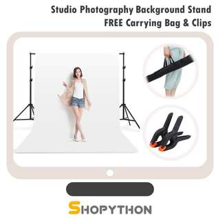 Studio Photography Background Backdrop Stand Kit FREE Carrying Bag Clips Combo Set