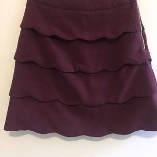 H&M Scallop Skirt Size 8