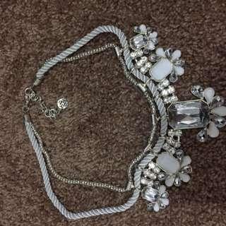 Silver/White Colette Necklace.