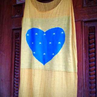 Yellow Heart Printed sleeveless