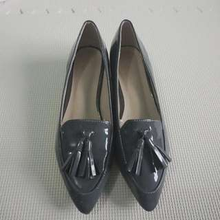 Parisian Gray Office Loafers Shoes
