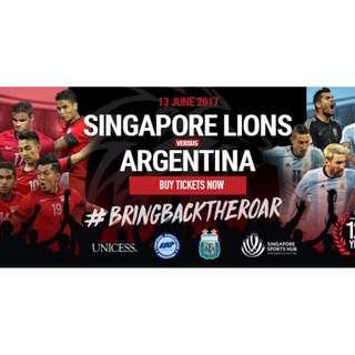 Singapore Lions vs Argentina