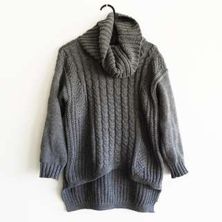 ACHE - Size 8 - Chunky Knit Cowl Neck Jumper/Sweater
