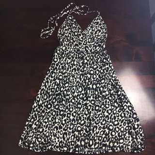 Piper Lane Size 12 Animal Print Halter Dress