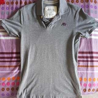 Aeropostale Grey Polo T-shirt