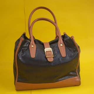 Authentic Charles And Keith Brown And Black Bag