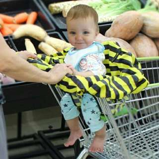 Baby High Chair Cover /  Shopping Cart Cover