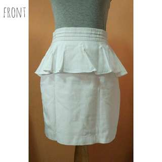 White Peplum Skirt