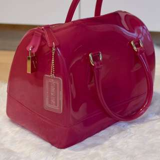 GENUINE FURLA CANDY BAG IN HOT PINK