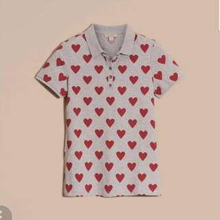 100% Authentic Burberry Heart Print Shirt