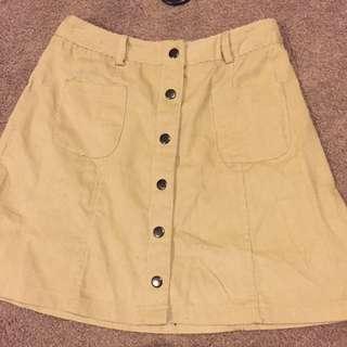 Beige Paperheart Skirt