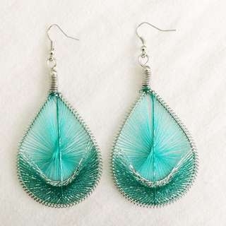 Handmade thread earrings