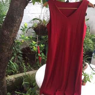 Banana Republic Red Shift Dress Fits Small/Medium