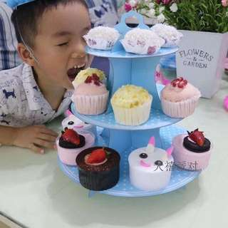 Disposable 3 Tier Cupcake Stand