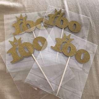 100 Day Cake Topper