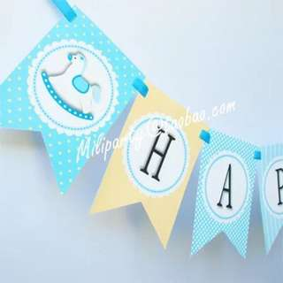 Baby 100 Day Party Decorative Flags