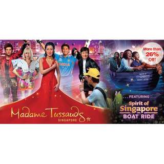Madame Tussauds (Included image of singapore and sipirit of singapore boat ride)