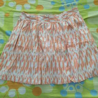 Just G Peach And White Skirt