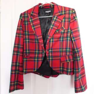 Dangerfield Tartan crop jacket