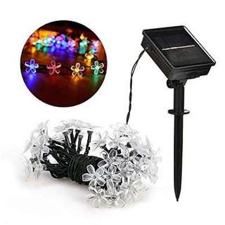 Solar Blossom Flower Fairy String Lights for Outdoor 23FT 50 LED Multi-Colour - paypal, no pickup