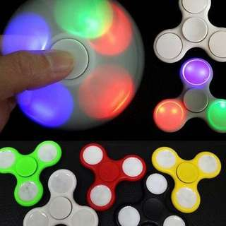 LED Fidget Spinner with Lights EDC Stress Relief Focus Hand Finger Toy Kids - paypal, no pickup