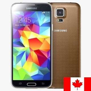 Samsung Galaxy S5 in Black or White Unlocked 16gb G900P Gold - paypal, no pickup