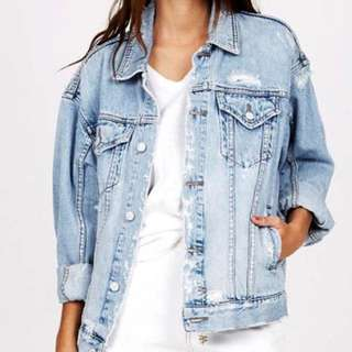 KSUBI Oversized denim jacket Havoc Street RRP: $199.95