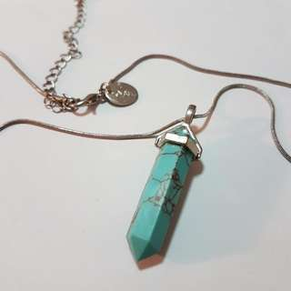 Lovisa Turquoise Gemstone Quartz Necklace