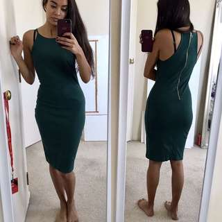 Size 6 Green Midi Dress
