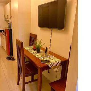FOR RENT 1BR FULLY FURNISHED IN JAZZ RESIDENCES MAKATI FACING AMENITIES