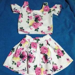 Floral Top & Skirt