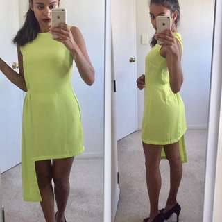 Size 6 ASOS Chartreuse Dress