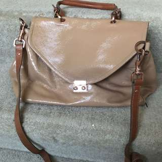 Witchery Satchel Bag Rose Gold Hardware