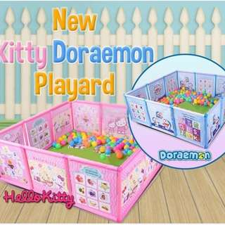 🚚 🔶 FREE DOORSTEP DELIVERY 🔶 CLEARANCE $43 🔶 IN STOCKS 🔶 DORAEMON / KITTY TODDLERS / KIDS PLAYING FENCE / PLAYARD (OB)